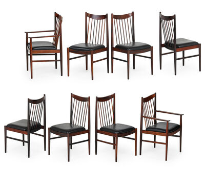 Sibast, 'Set of eight dining chairs, two arm and six side', 1960s