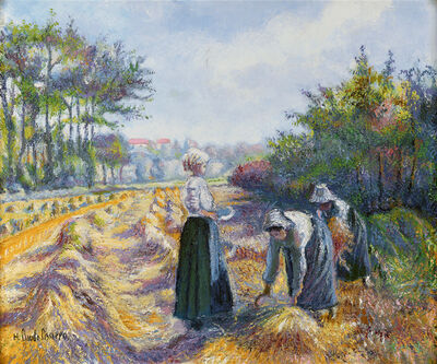 Hugues Claude Pissarro, 'Les Moissonneurs de Proussy (Harvesters of Placy)', 1940