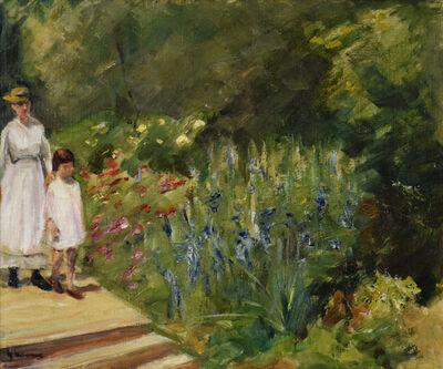 Max Liebermann, 'Enkelin und Kinderfrau im Nutzgarten', 1923