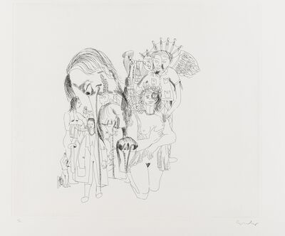 George Condo, 'From. More Sketches of Spain For Miles Davis', 1991