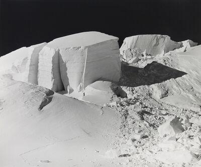 Bradford Washburn, 'Ice blocks, Mount silverthorne, Alaska', 1945