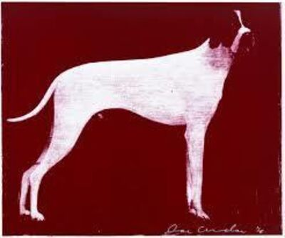 Joe Andoe, 'LARGE DOG (BURGUNDY', 1998