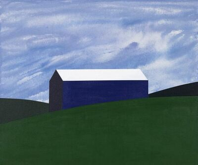 Charles Pachter, 'Blue Barn', 2018