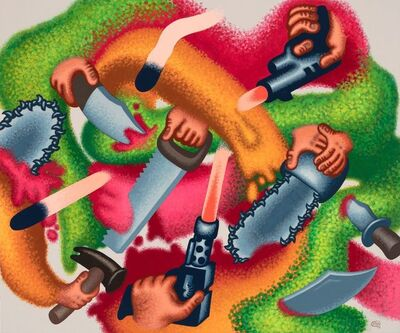 Peter Saul, 'Attack on Abstraction', 2019