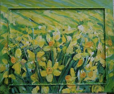 Janet Lance Hughes, 'Field of Daffodils', 2019