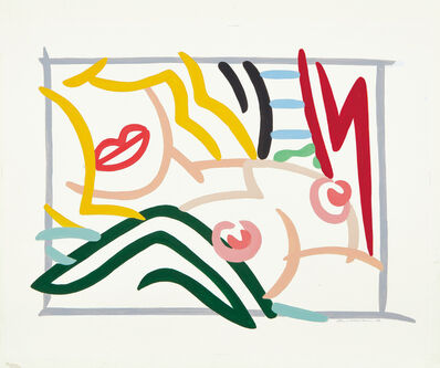 Tom Wesselmann, 'Study for Bedroom Blonde, Black and Green Pillows', 1986