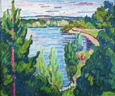 Louis Neillot, 'L'Allier à Châtel de Neuvre', 1968