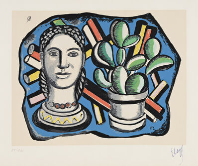 Fernand Léger, 'Tête et Cactus', 1954-55