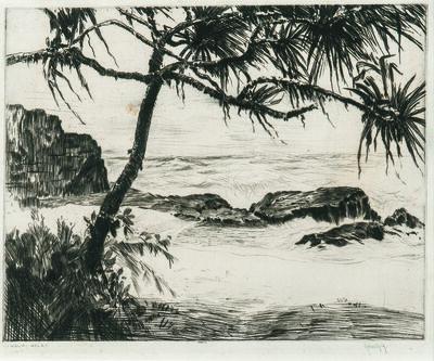 John Melville Kelly, 'Kauai Hala/A Hawaiian Coastal View'