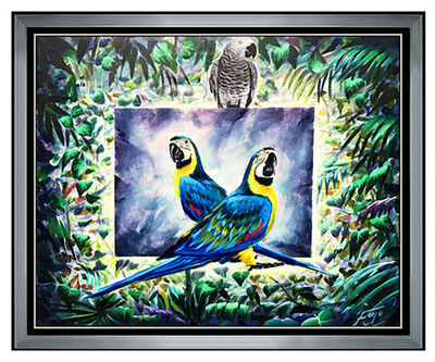 Ferjo, 'FERJO Fernando Oliviera Original Painting Oil On Canvas Signed Surreal Bird Art', 20th Century