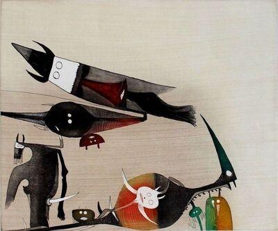 Wifredo Lam, 'Sans titre - XXe siecle plate #5', 1977
