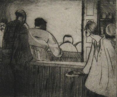 Peggy Bacon, 'Carrie (Lunch Counter)', 1918