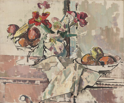 Herbert Barnett, 'Still Life with Fruit and Flowers', Early 1950s