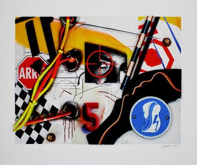 """Peter Klasen, '""""Regard / Cible / 5 / Electrified floor""""', 2016"""
