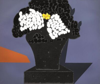 Concetto Pozzati, 'At what point we are with the flowers', 1989