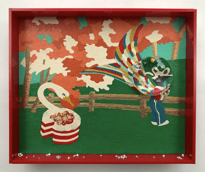 Erica Rosenfeld, 'SWAN-CAKE WITH RAM-BOY, ', 2019