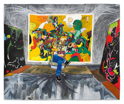 Raffi Kalenderian, 'Michael Bauer in the Studio', 2020