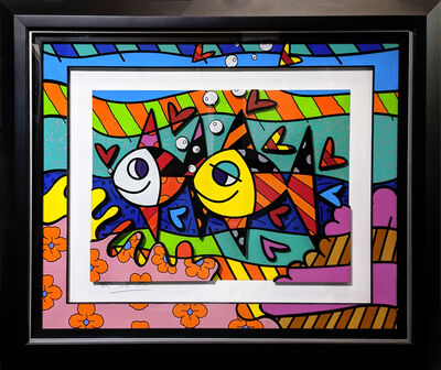Romero Britto, 'FOLLOW ME BABY (3D MIXED MEDIA)', 2015