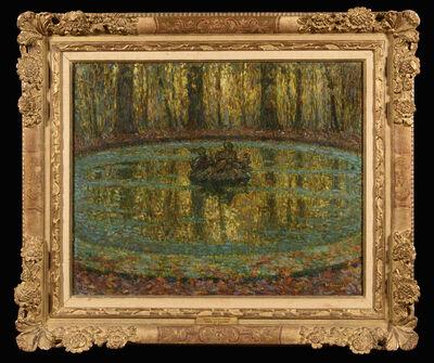 Henri Eugène Le Sidaner, 'Bassin, lentilles vertes', 1916
