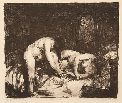 George Wesley Bellows, 'Two Girls', 1917