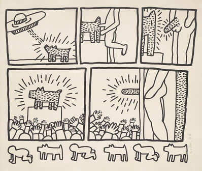 Keith Haring, 'The Blueprint Drawings: one plate', 1990