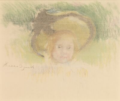 Mary Cassatt, 'Girl in a Hat with a Black Ribbon', ca. 1902