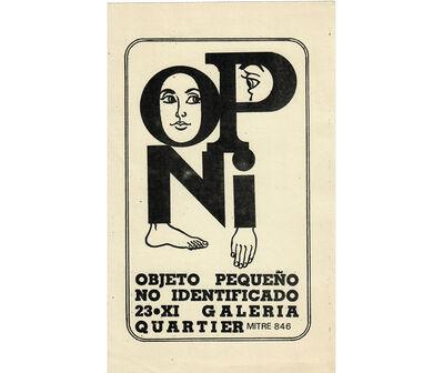 Noemi Escandell, 'OPNI. Objeto pequeño no identificado', 1966