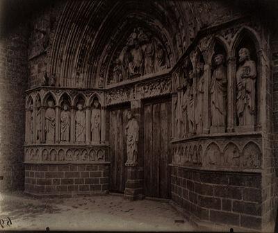 Eugène Atget, 'Le Portail de l'église Saint-Éliphe, Rampillon (Seine-et-Marne)', 1921/1921