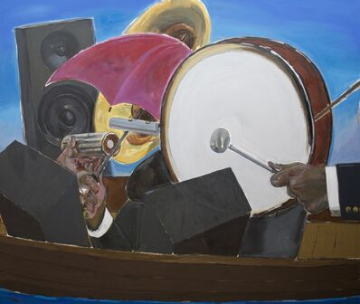 Enrico Riley, 'Untitled: Music, Rhythmaning, Keeping Time, Time Travelers', 2020