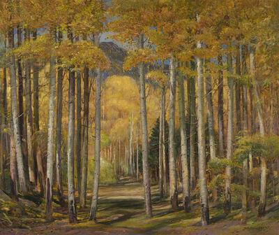 Oscar Berninghaus, 'Autumn Aspen Forest', 1949
