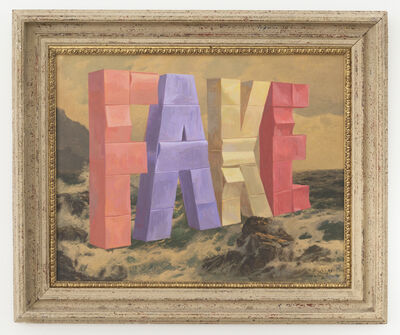 Wayne White, 'FAKE', 2017