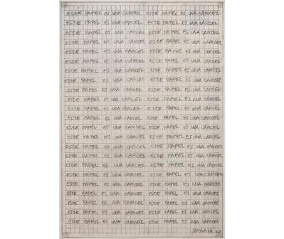 Horacio Zabala, 'Este papel es una cárcel', 1972