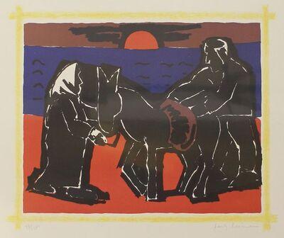 Josef Herman RA, 'Red Sun', 1975