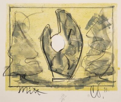 Claes Oldenburg, 'Standing Mitt with Ball', 1973