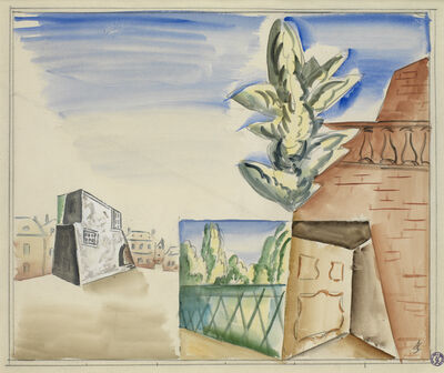 Leopold Survage, 'Composition with Balustrade', ca. 1919