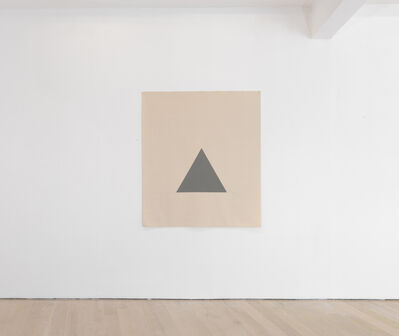 Alan Charlton, 'Hanging Canvas Isometric Triangle ', 2017