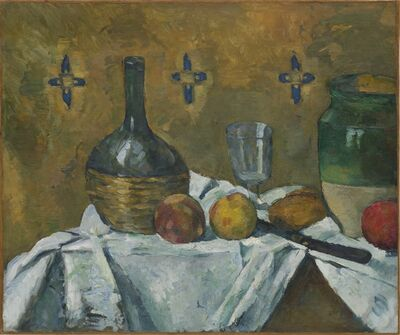 Paul Cézanne, 'Still Life: Flask, Glass and Jug (Fiasque, verre et poterie)', ca. 1877