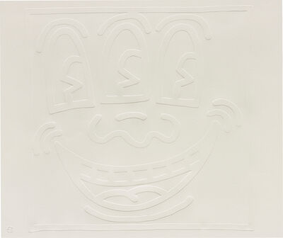 Keith Haring, 'White Icons: one plate', 1990