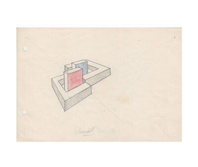 Noemi Escandell, 'Boceto para estructuras Volúmenes, cuerpos y desplazamientos', 1966
