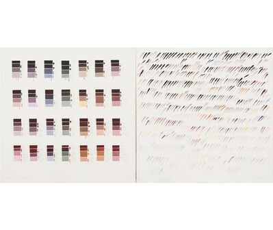Osvaldo Romberg, 'I Sustractive color mixture / II The same color in additive mixture', 1980