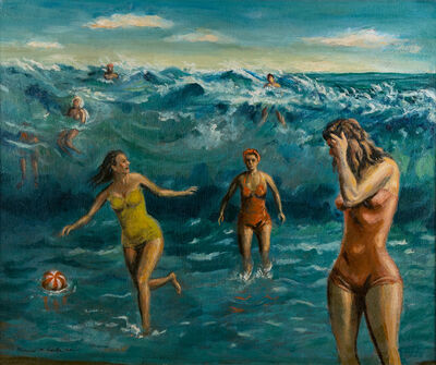 Clarence Holbrook Carter, 'Riding the Surf', 1945