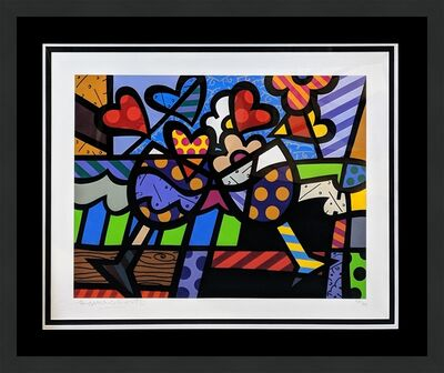 Romero Britto, 'CELEBRATING', 2005