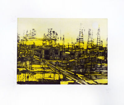 Donald Sultan, 'Oil Field, September 2004', 2004
