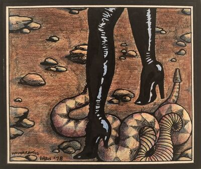 David Wojnarowicz, 'Black Boots with Snake', 1978