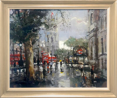 Robert E Wells, 'Whitehall After the Rain', 2018