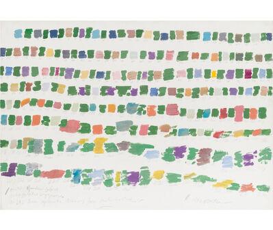 Osvaldo Romberg, '1-242 Random colors interpolated by green', 1980