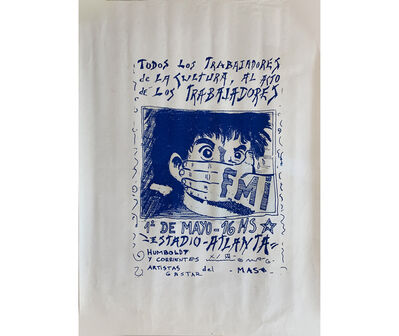 Fernando Coco Bedoya, 'GAS-TAR (Grupo de Arte Socia- lista -Taller de Arte Revolucionario). Participan: Fernando 'Coco' Bedoya, Diego Fontanet, y Mercedes Idoyaga (Emei) Trabajadores', 1982-1983