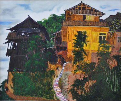 Liang Qunfeng, 'Fenced Village on Highlands', 2013