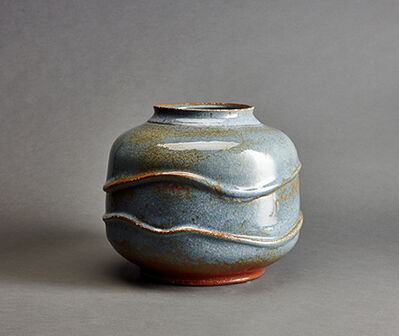 Brother Thomas Bezanson, 'Vase, blue koke glaze'