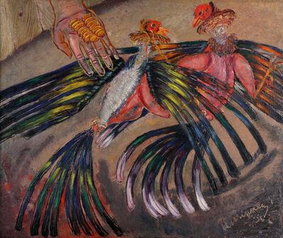 Carlos Enriquez, 'Pelea de Galloz', 1956